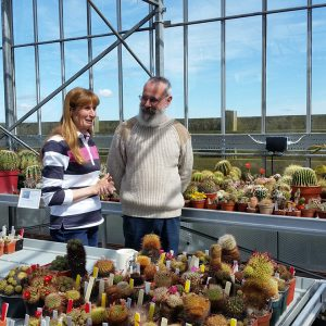 Carole Baxter from The Beechgrove Garden with Paul